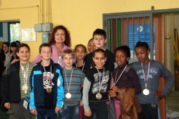 L'équipe 19 avec Mme Hervé finit à la 3ème place
